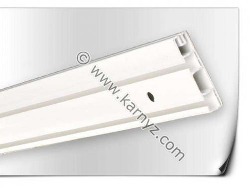 Пластиковый потолочный Карниз ОМ2 двойной 2,1м, Белый, 28 грн.