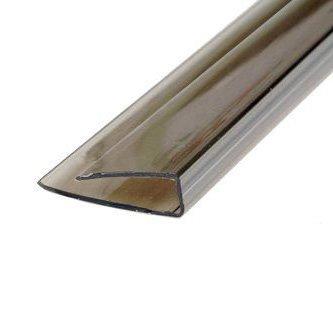 Фото  1 Пластиковый торцевой профиль (ППТ) 4мм Novattro 2.1м бронзовый 1832736