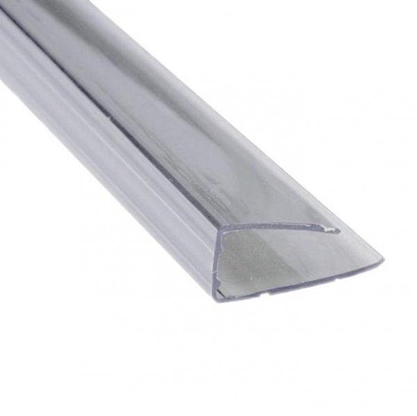 Пластиковый торцевой профиль (ППТ) 8мм Novattro 2.1м прозрачный