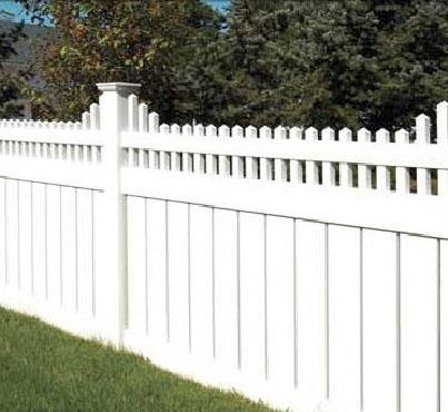 Пластиковый забор. Размер секции 2450мм длина х 2000мм высота.