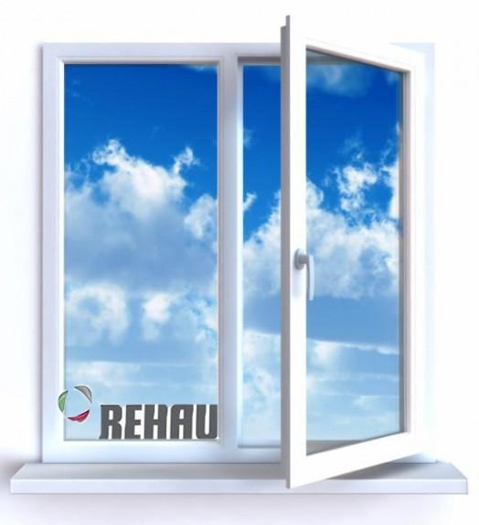 Пластиковое окно Rehau, Maco, 1- кам. с/т. Размер 1100*1300, правая створка поворотно-откидная. Цена 890 грн.