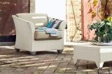 Плетеная мебель из искусственного ротанга, которую можно использовать в саду и на пляже под открытым небом