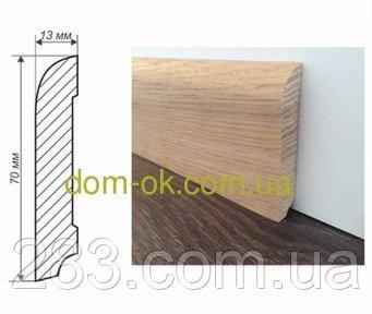 Фото  1 Плинтус деревянный из дуба или ясеня, 70х13 мм, ТИП 2 2298509