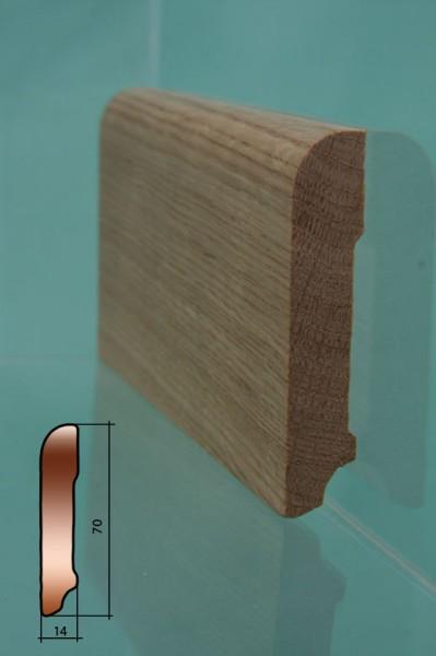 Плинтус из дуба , категория высший сорт, без сучков, cо сращениями по длине, высота 51мм,