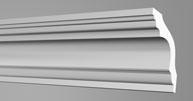Плинтус потолочный Бельгия полистирол планка длиной 2м. К100 80*80