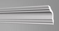 Плинтус потолочный Бельгия полистирол планка длиной 2м. К50 50*50