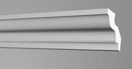 Плинтус потолочный Бельгия полистирол планка длиной 2м. М50 50*50