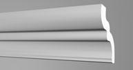 Плинтус потолочный Бельгия полистирол планка длиной 2м. S100 70*75