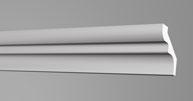 Плинтус потолочный Бельгия полистирол планка длиной 2м. S50 40*50