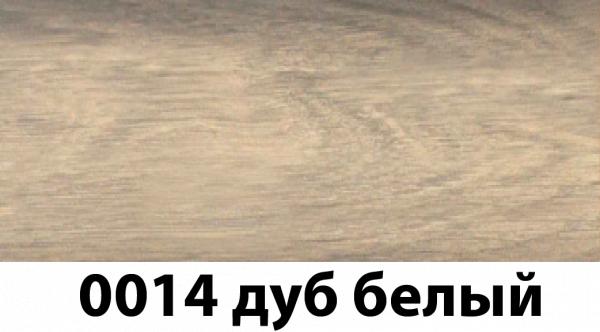 Фото  1 Плинтус с кабель каналом с прорезиненными краями 56х18мм 2,5м Тис дуб белый 2135177