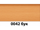 Фото  3 Плинтус с кабель каналом с прорезиненными краями 56х38мм 2,5м Тис бук 2335384