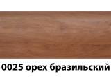 Фото  1 Плинтус с кабель каналом с прорезиненными краями 56х18мм 2,5м Тис орех бразильский 2135174