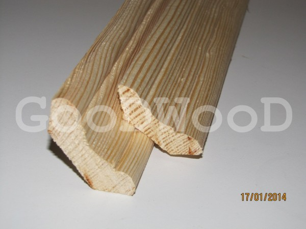 Плинтус сосна в. с. Длина 1,5-2,5 м, ширина 47 мм, перекр. 30*30 мм. Опт, розница.