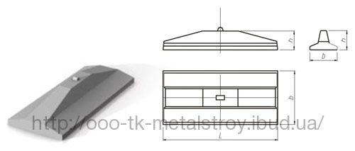 Плита анкерная для крепления опор на оттяжках ВЛ 35-750 кВ
