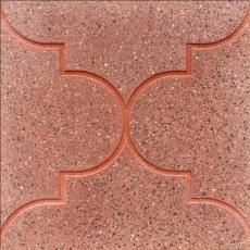 Плита бетонная мозаичная шлифованная гиперпрессованная . Состав гранит-мрамор. Дакара ШФ Самарканд 400х400х50мм