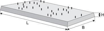Плита для маслосборников и огнезащитной стенки ПН 2-1 3250x890x100 725кг.