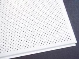 Плита металлическая белая, влагостойкая, перфорированная