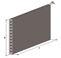 Плита перекриття залізобетонна багатопустотна стінова .