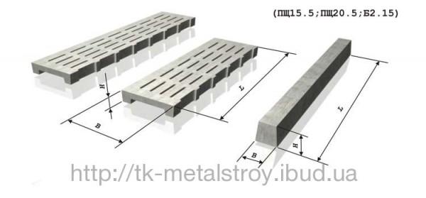 Плита щелевая ПЩ15.5 1500*500*100 мм