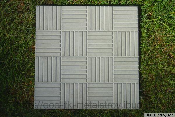 Плита тротуарная бетонная 750*750 мм