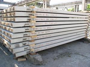 Плиты перекрытия длина от 1,7-9,0м, ширина 0,4-1,5м.