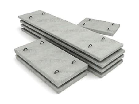 Плиты перекрытия лотков П 1-8 размер 1200х410х80 мм