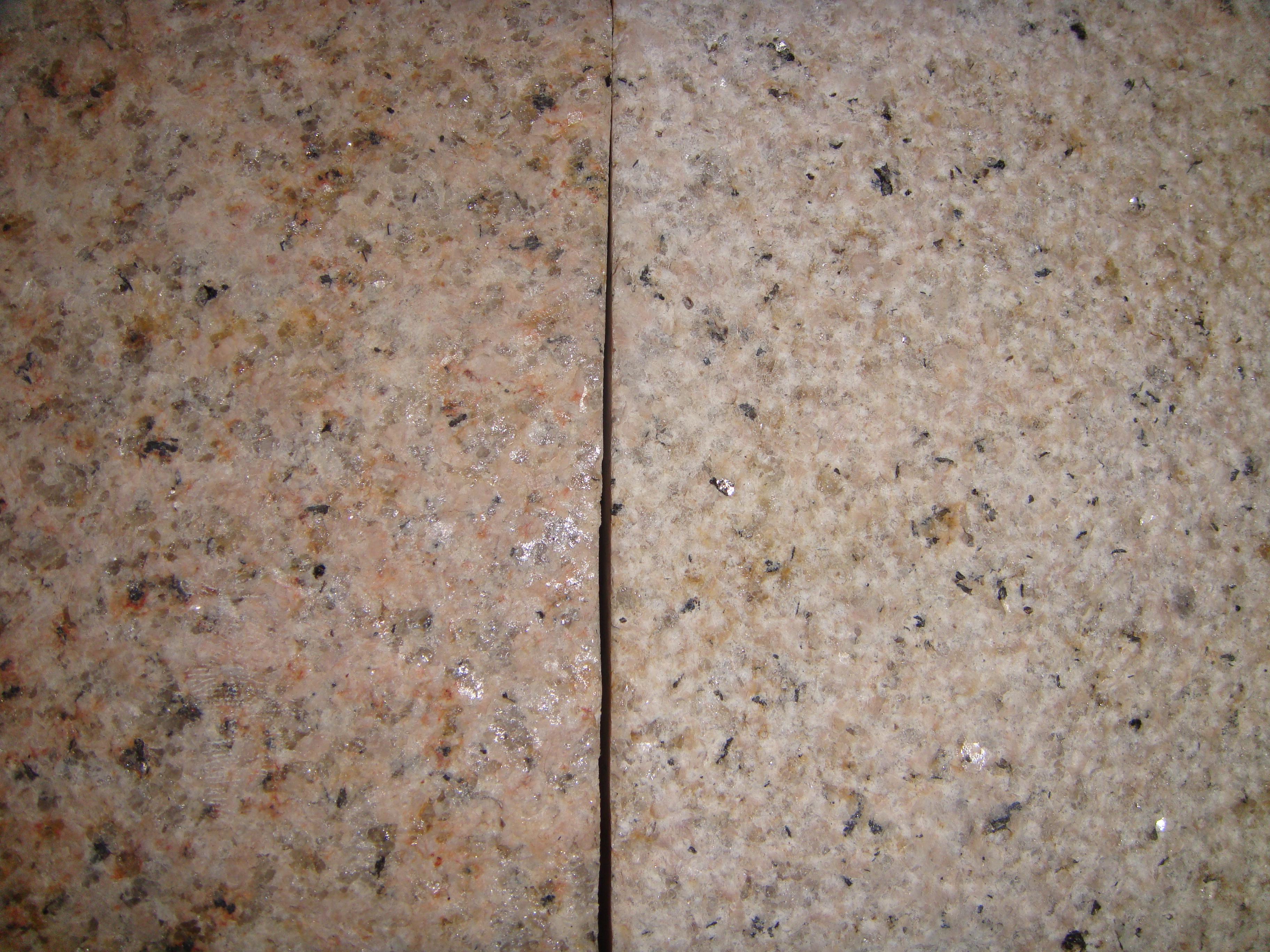 Плитка бучардированная из жолтого гранита G682 размером 600х300х20