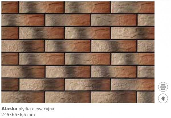 плитка фасадная alaska 24,5х6,5