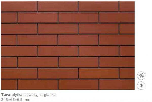 плитка фасадная Тара 245x65x6,5