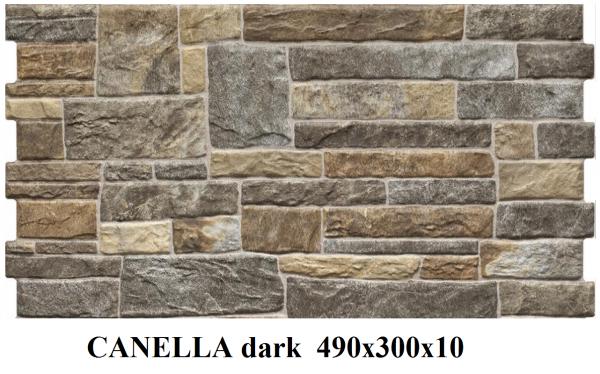 плитка фасадная CANELLA dark 490x300x10