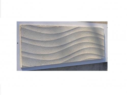 """Плитка фасадная облицовочная бетонная """"ВОЛНА"""". 31*90*2см."""