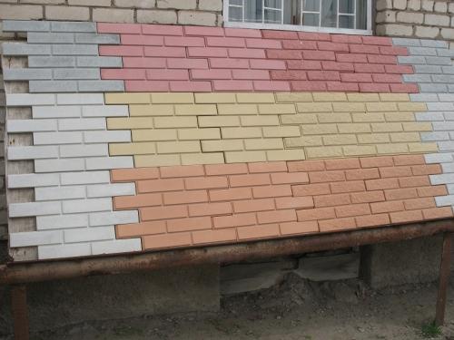 Плитка фасадная облицовочная с гладкой поверхностью (в ассортименте)