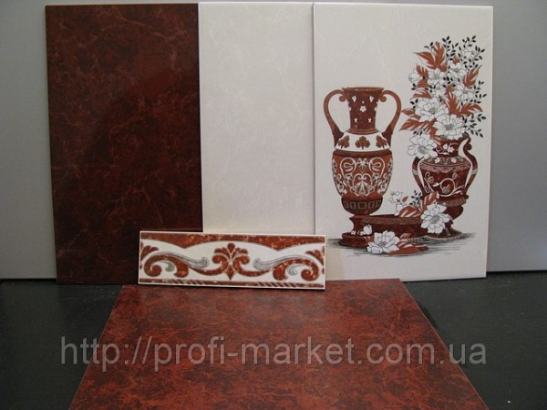 Плитка керамическая для стен 23/35см. Глянец. Bizantino