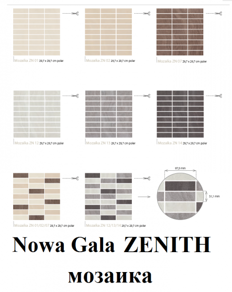Nowa Gala декор ZENITH мозаика