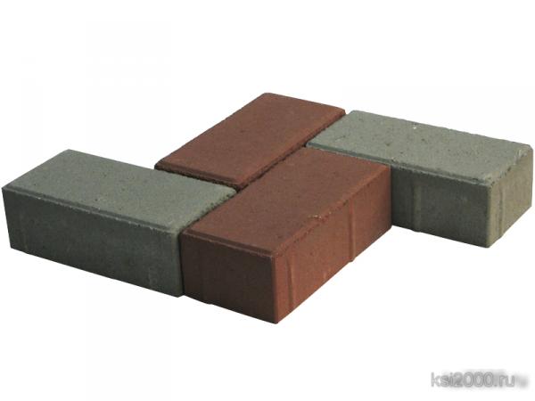 Тротуарная плитка Кирпич 8см сухопрессованная
