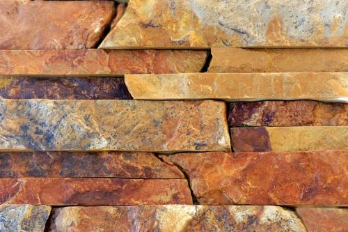 """Плитка """"лапша"""" из рыжего песчаника. Ширина плитки : 3см, 6см, 9см, длина произвольная."""