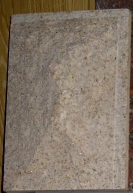 Плитка Скала из жолтого гранита G682 размером 400х200х40