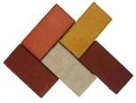 Плитка тротуарная Кирпичик тол.4 см красная, коричневая без НДС) вибропрессованая