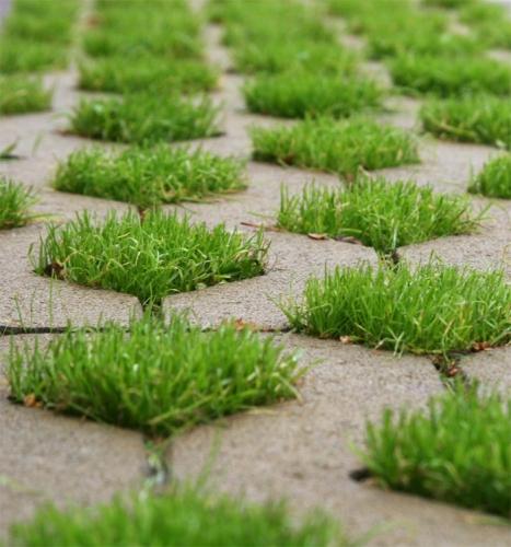Плитка тротуарная Парковочная решетка. Укладка тротуарной плитки.