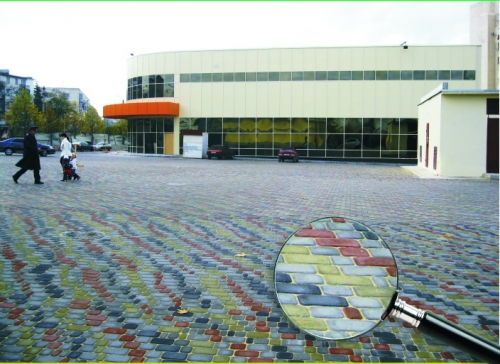 Плитка тротуарная Старый город, 4 элемента, толщина 50 мм. Цена за серую. Цветная - доплата за цвет от 10 до 52 грн.