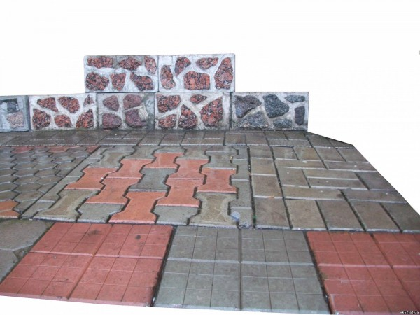 Плитка тротуарная 10х20х5.5 см
