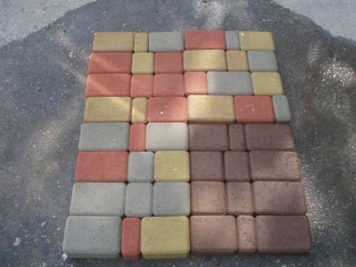 Плитку тротуарную «Старый город» серую, цветную. Бордюр «Дорожный».