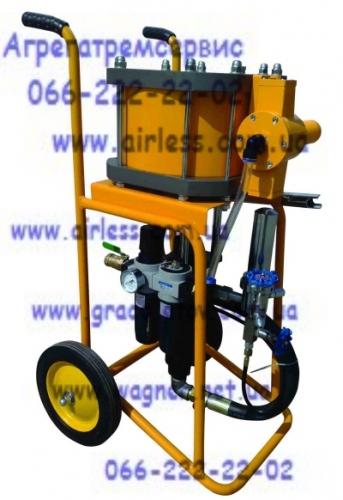 Пневматическое окрасочное оборудование Airless 6391C для вязких и агрессивных составов.