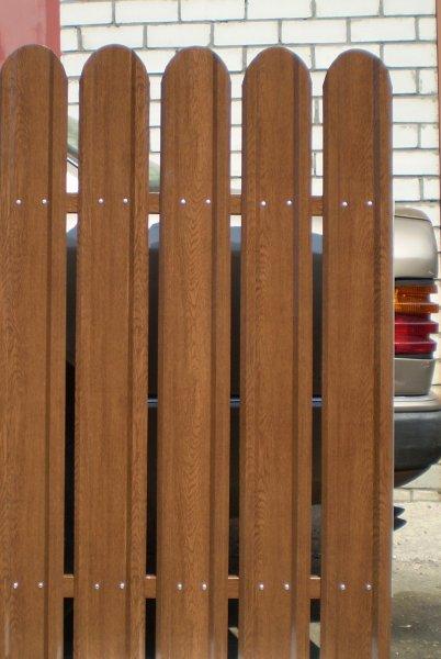 Фото 6 Евроштакетный металлический забор 321354