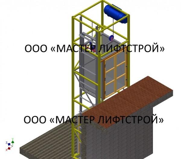 Подъёмники грузовые шахтные – удобное перемещение груза для промышленных предприятий г/п 1000 кг, г/п 1 тонна.
