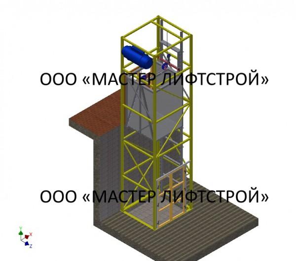 Подъёмники грузовые грузоподъёмностью 1000 кг, 1500 кг, 1 тонна, 1,5 тонн, 2000 кг, 2 тонны, 2500 кг, 3000 кг, 3 тонны