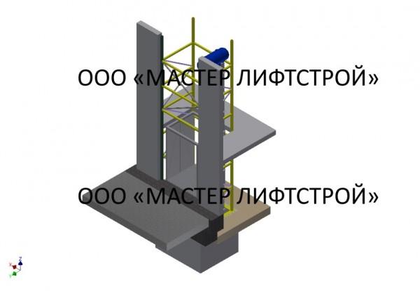 Шахтный подъёмник. Монтаж грузового шахтного подъёмника. Изготовление шахтного подъёмника под заказ.