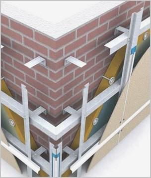 подкронструкция фасадной системы для вентилируемых фасадов