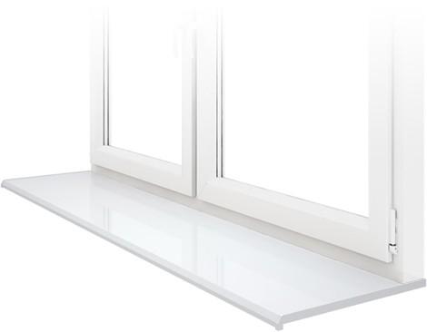 Подоконник DANKE, Lucido Bianco – белый глянец, ширина 200 мм