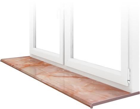 Подоконник DANKE, Onyx – розовый оникс, ширина 200 мм